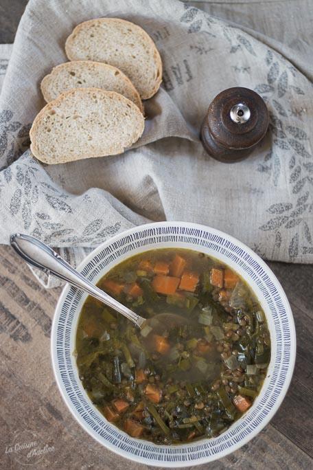 Soupe de lentilles carottes et poireau recette