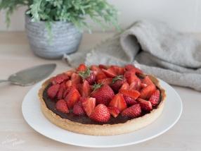 Tarte fraises chocolat recette facile