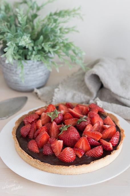 Tarte fraises chocolat recette gourmande