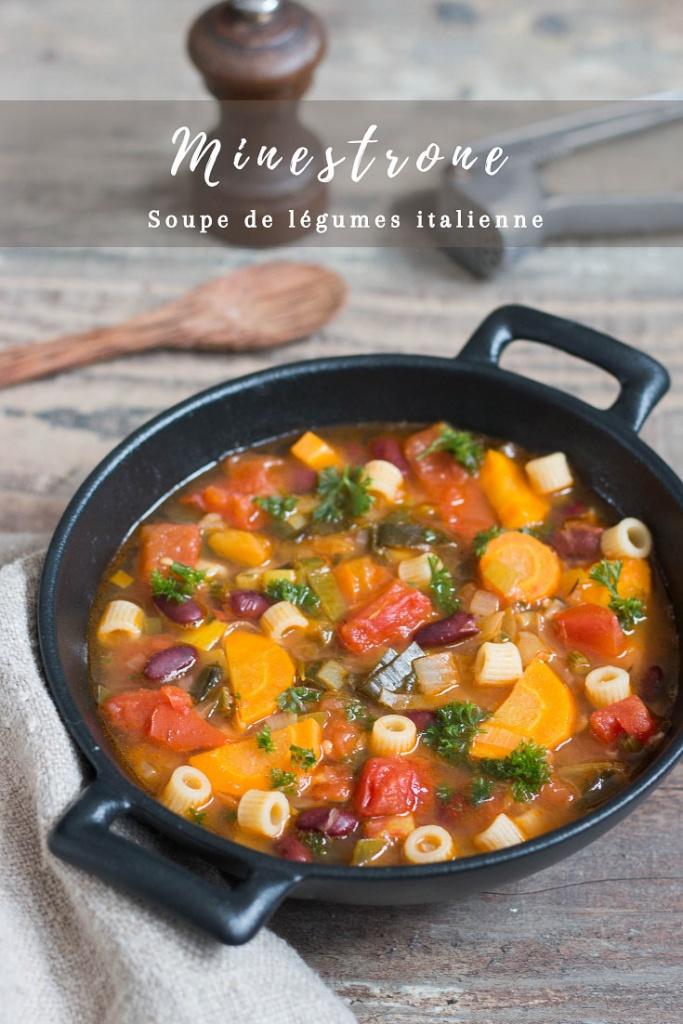 Minestrone soupe de légumes italienne recette Pinterest